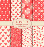 Set of seamless patterns. Vector backgrounds. Royalty Free Stock Photo
