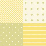 Set of 4 seamless patterns. Vector hand drawn illustration Royalty Free Stock Images
