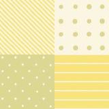 Set of 4 seamless patterns. Vector hand drawn illustration royalty free illustration
