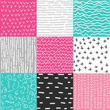 Set of seamless patterns Royalty Free Stock Photo