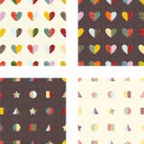 Set of seamless patterns. Vector illustration Royalty Free Stock Photo