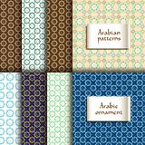 Set of seamless patterns. Vector illustration. Set of seamless patterns in islamic style. Vector illustration Stock Images