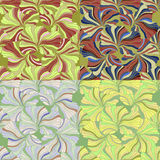 Set of seamless patterns vector illustration Royalty Free Stock Image