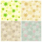 Set of seamless patterns with a vegetable ornament Stock Photos