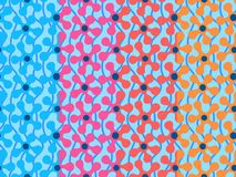 Set of seamless patterns with vivid abstract flowers on light blue background. Can be printed and used as wrapping paper, wallpape. R, textile, fabric, etc vector illustration