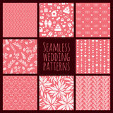 Set of seamless patterns for wedding decoration Royalty Free Stock Images