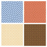 Set of seamless pavement pattern in korean style Stock Images