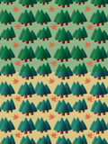 Set of seamless pine tree pattern Stock Image