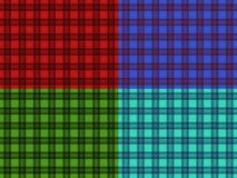 Set of seamless plaid patterns Stock Photo