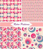 Set of seamless retro patterns Royalty Free Stock Photography