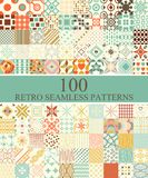 Set of 100 seamless retro