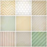 Set of seamless retro patterns with dirt. Stock Photos