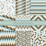 Set of seamless retro patterns. Vector Stock Photo