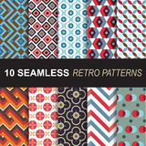 Set of seamless retro patterns vector set for background and wallpaper. Seamless retro patterns vector set for background and wallpaper stock illustration
