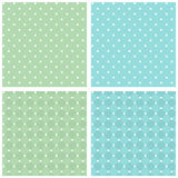 Set of seamless retro texture. Stock Photo