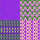 A set of seamless retro Zig zag Stock Images