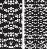 Set of seamless roses pattern, wallpaper Stock Photography