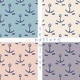 Set of seamless sea pattern Royalty Free Stock Photos