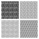 Set memphis patterns. Set of seamless simple memphis patterns isolated on white background in 80s style stock illustration