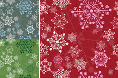 Set of seamless snowflakes Stock Images