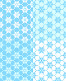 Set of  seamless snowflakes background. Royalty Free Stock Photos