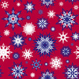 Set of  seamless snowflakes background. Stock Image