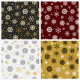 Set of seamless snowflakes background. Vector illustration. Wallpaper patterns vector illustration
