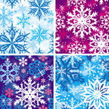 Set of seamless snowflakes pattern Stock Photography