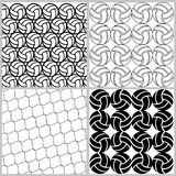 Set of seamless sports patterns. The texture of volleyballs, in Stock Image