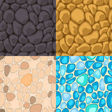 Set of seamless stone. Vector illustration Royalty Free Stock Photo