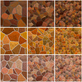 Set of seamless stone texture Royalty Free Stock Photography