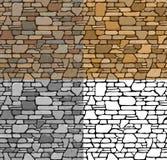 Set Seamless Stone Textures Stock Photo
