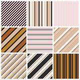 Set of seamless stripes patterns Royalty Free Stock Images