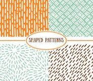 Set of seamless stroke patterns. Hand-drawn background. vector illustration