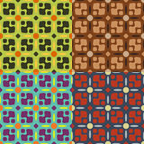 Set of seamless symmetric patterns Royalty Free Stock Image