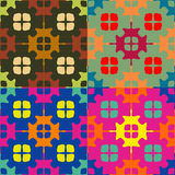 Set of seamless symmetric patterns Stock Photos