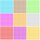 Set of seamless tablecloth pattern Royalty Free Stock Images
