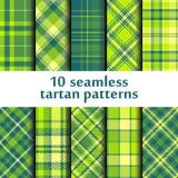 Set of seamless tartan pattern Royalty Free Stock Photography