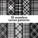Set of 10 seamless tartan pattern Royalty Free Stock Photos