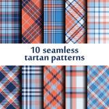 Set of seamless tartan pattern Royalty Free Stock Images