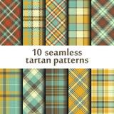 Set of seamless tartan pattern. Vector Royalty Free Stock Photography