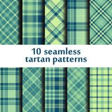 Set of 10 seamless tartan pattern. Vector Stock Images