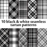 Set of 10 seamless tartan pattern Royalty Free Stock Images