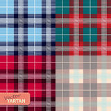 Set of seamless tartan pattern Royalty Free Stock Photography