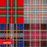 Set of seamless tartan pattern Stock Images
