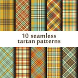 Set of 10 seamless tartan pattern. Vector Royalty Free Stock Photos
