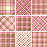 Set of seamless tartan patterns Stock Photography