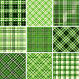 Set of seamless tartan patterns Stock Photo