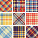 Set of seamless tartan patterns Royalty Free Stock Photos