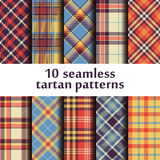 Set of seamless tartan patterns Royalty Free Stock Photo